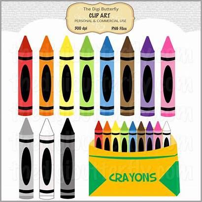 Crayons Clip Clipart Crayon Crayola Colored Box