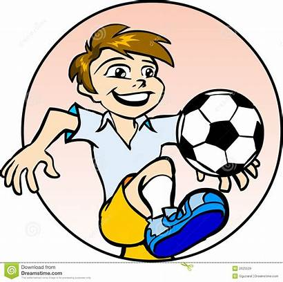 Football Clipart Playing Boy Player Kid American