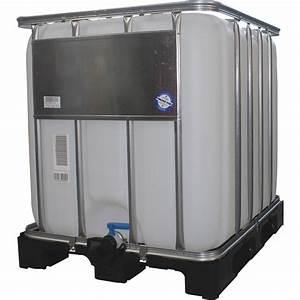 ibc tank 1000 l mit kunststoffpalette kaufen bei obi With französischer balkon mit ibc container garten