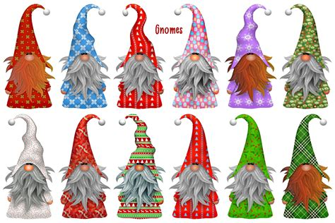 Download beary merry christmas sublimation clipart (1077075) today! Christmas Gnome Scandia Clip Art (306349) | Illustrations ...