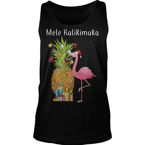 christmas flamingo decoration pineapple mele kalikimaka