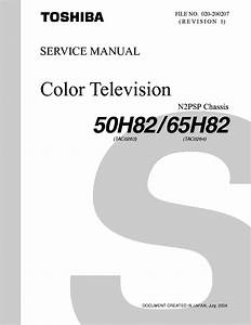 Toshiba 50h82 65h82 Rev1 Chassis N2psp Sm Service Manual