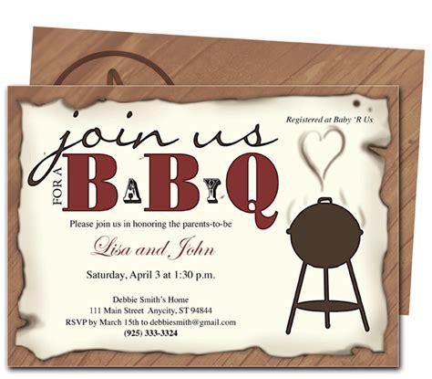 bbq baby shower invitations dolanpedia invitations template
