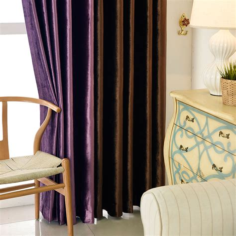 vorhänge im schlafzimmer vorhang unifarbe aus samt im schlafzimmer