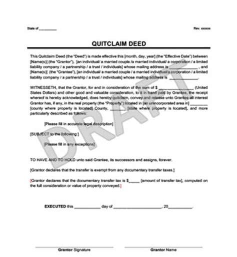 trust deed template for property in colorado quit claim deed template templates data