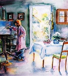 Artist At Work In Summer Painting by Trudi Doyle