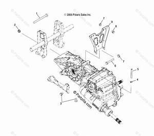 Polaris Atv 2006 Oem Parts Diagram For Transmission Mounting