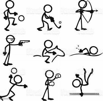 Stick Sports Doing Drawing Figures Drawings Stickfigure