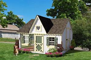 Amish handcrafted 839x 1039 victorian cozy dog kennel for Amazing dog kennels