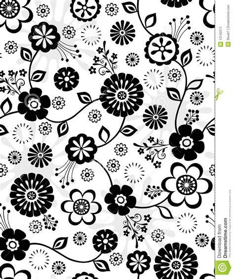 de zwart witte naadloze bloemen herhalen patroon vector illustratie illustratie bestaande uit