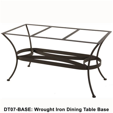 ow standard wrought iron rectangular dining table base