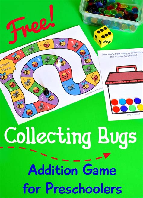free preschool game collecting bugs addition for preschoolers 486