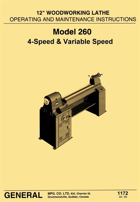 general model   variable speed wood lathe operating