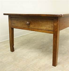 antique french cherry two drawer coffee table for sale at With cherry coffee table with drawers