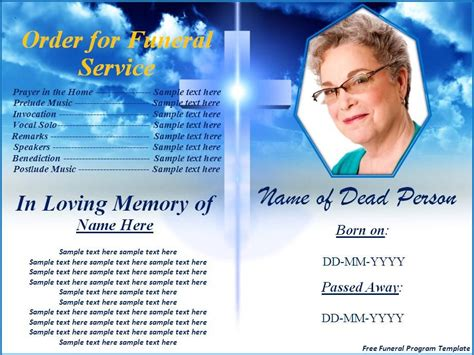 free funeral templates free funeral program templates button to use this free funeral program template