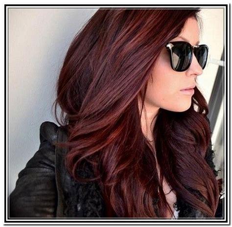 reddish purple hair color brown hair with reddish purple highlights brown