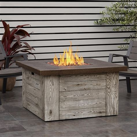 Gas Pit Table With Lid by Real Forest Ridge 42 Inch Square Propane Pit