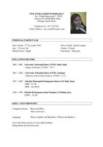 What Is A Resume For Applications by Stylish Sle Of Resume For Application Resume Format Web
