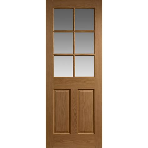 door window panel colonial interior door oak veneer 6 glass panels 3