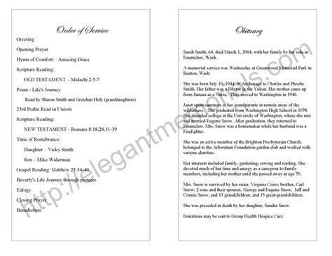 memorial service program template best photos of funeral program wording sles funeral program acknowledgement wording