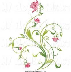 Pink Flower Vine Clip Art