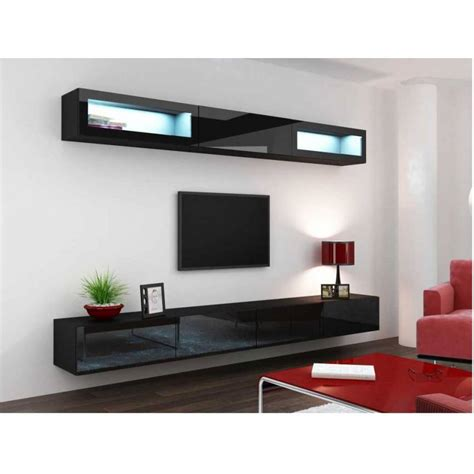 cuisine az com meuble tv vigo trend noir séjour meuble tv