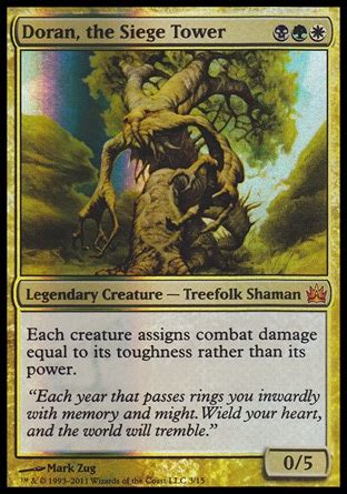 Mtg Treefolk Deck Edh by Doran The Siege Tower From The Vault Legends