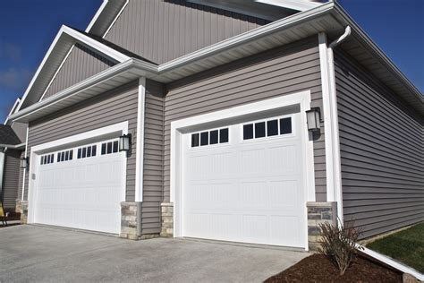 White Garage Doors by Window White Carriage Style Garage Door In Downs