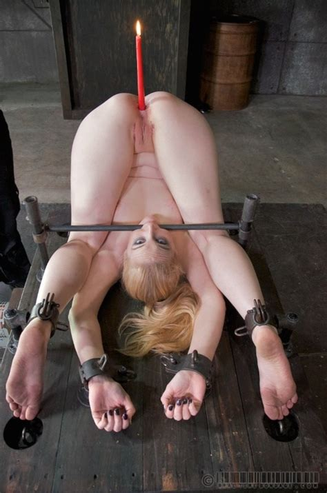 Delirious Hunter Tied Up With A Candle In Her Ass 1 Of 1