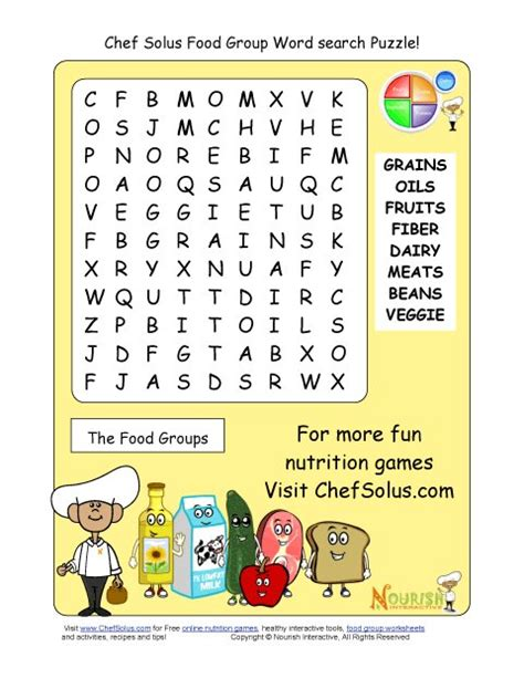 word for cuisine these word search puzzles focus on the food groups and