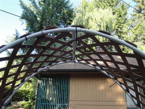 pvc vinyl lattice garden arch trellis garden org