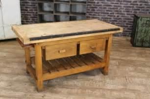 kitchen work tables islands antiques atlas vintage kitchen island work bench table