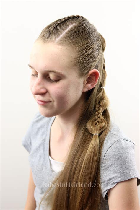 peek  boo french braid hairstyle  teens tweens