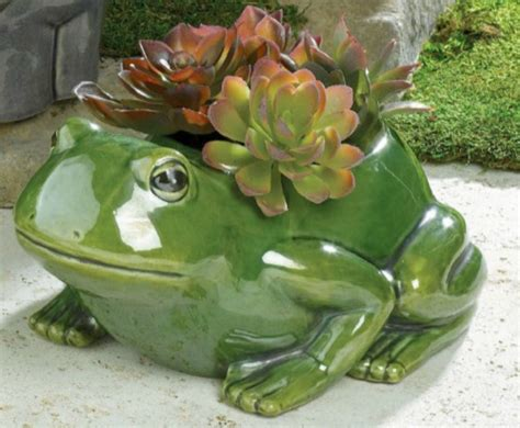 New Green Frog Ceramic Planter Vase Garden Table Decor Charcoal Grey Living Room Furniture Decorative Things For Modern Pictures Wall Storage Showroom Red Chair Orange And Cowboy Ideas