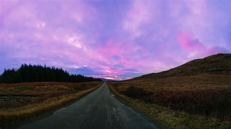 full hd wallpaper highway pink sky iceland desktop