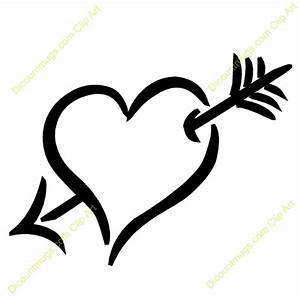 Heart with arrow clipart - Clipart Collection | Free ...