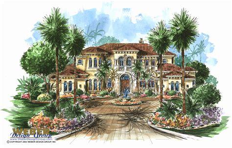 Mediterranean Villa House Plans by Weber Mediterranean Villa Single Story House Plans