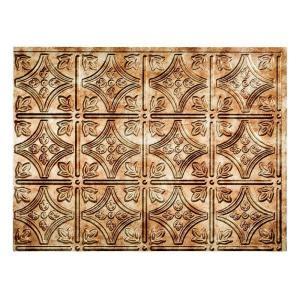 18 in x 24 in traditional 1 pvc decorative backsplash panel in bermuda bronze b50 17 the
