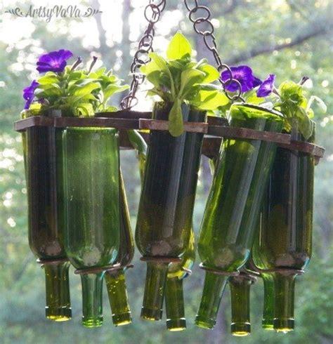 wine bottle garden 15 backyard ideas using empty wine bottles