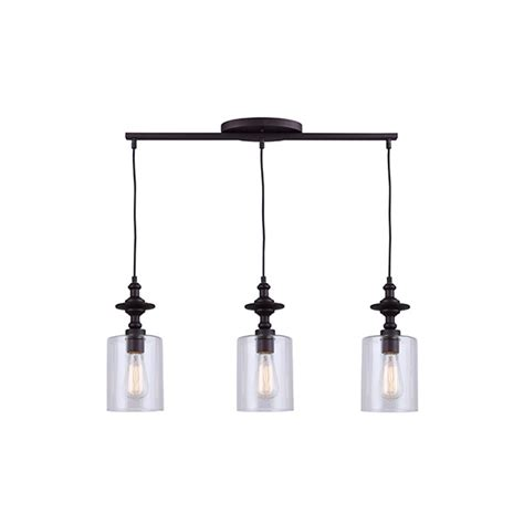 canarm york ipl586a03orb 3 lt cord pendant clear glass 100w type a 27 1 4 quot w x 16 1 2 58 quot h