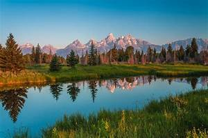 Mountains, Rivers, Scenery, Parks, Usa, Grass, Grand, Teton, Nature, Wallpapers, Hd, Desktop, And