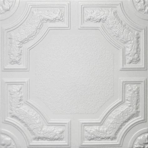 styrofoam glue up ceiling tiles 20 quot x20 quot r28w plain white traditional ceiling tile by