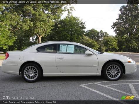 2003 Chrysler Sebring Lxi Coupe by 2003 Chrysler Sebring Lxi Coupe In Satin White Pearlcoat