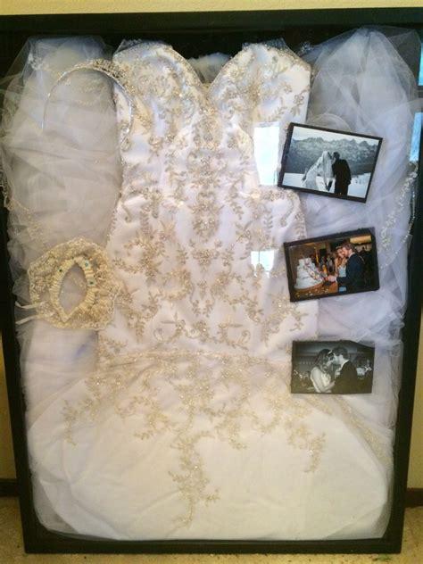wedding dress display shadow box keep sake pinte