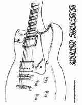 Guitar Coloring Electric Musical Instrument Yescoloring Gritty sketch template