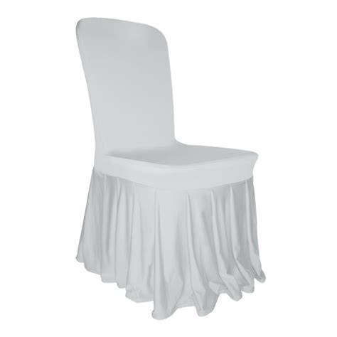 housse chaise lycra pleated skirt chair cover lycra spandex wedding