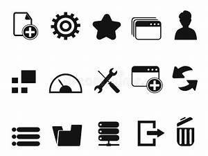 Web Dashboard Icons Set Stock Vector - Image: 39005698
