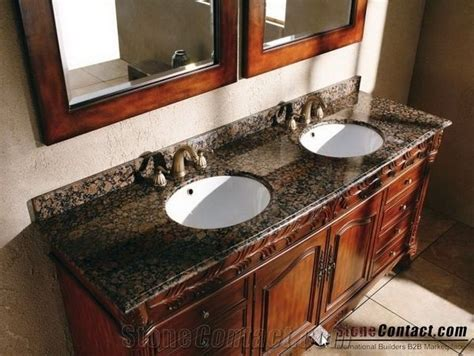 Baltic Brown Bathroom Countertops, Finland Brown Custom