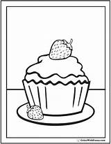 Coloring Cupcake Birthday Cake Sheets Printable Strawberry Cupcakes Pdf Template Strawberries Colouring Calipers Printables Getdrawings Customize sketch template