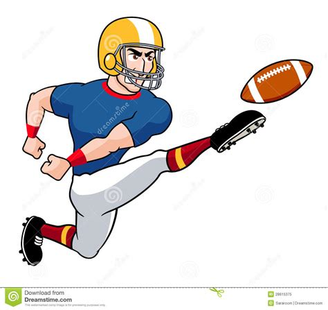 cartoon american football player royalty  stock photo